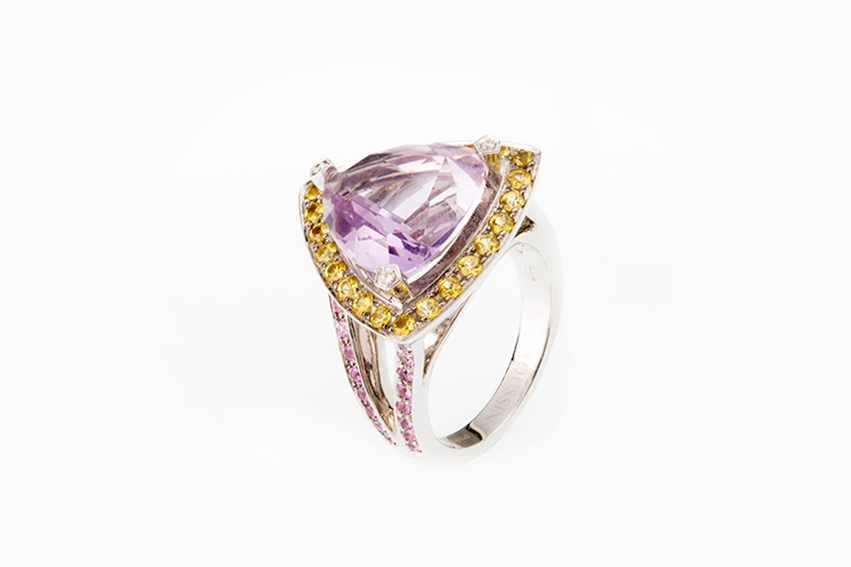 mauboussin - Anello mauboussin purple oro bianco
