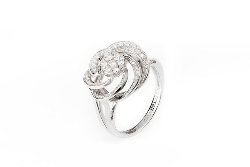 chimento - Anello chimento oro bianco diamanti ct. 0,42