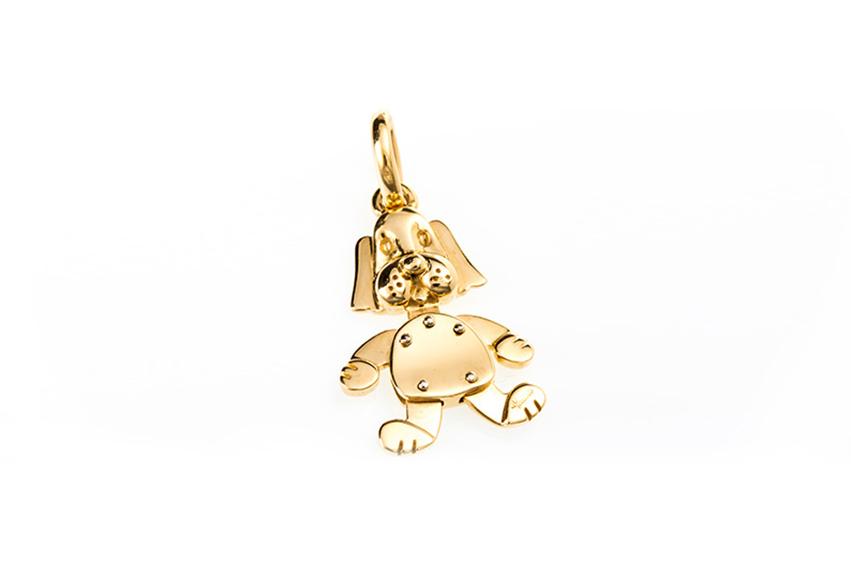 pomellato - Ciondolo cane oro giallo